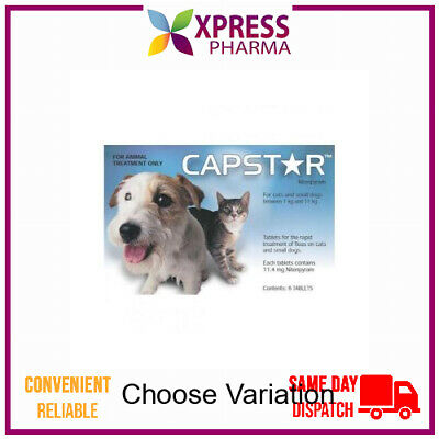 Capstar Flea Treatment Small Dogs and Cats 0.5 to 11kg NEW XPRESS
