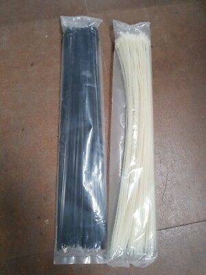 HEAVY DUTY NYLON CABLE TIES ZIP TIES TYWRAPS BLACK OR NATURAL  4.8 x 520mm