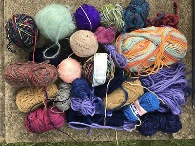 Job Lot of Knitting Wool Yarn Mixed Colours Various Thickness (20 Balls)
