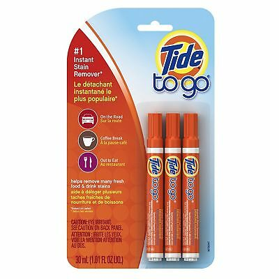 Tide To Go Instant Stain Remover Liquid Pen Wash Clothes - Multi Pack
