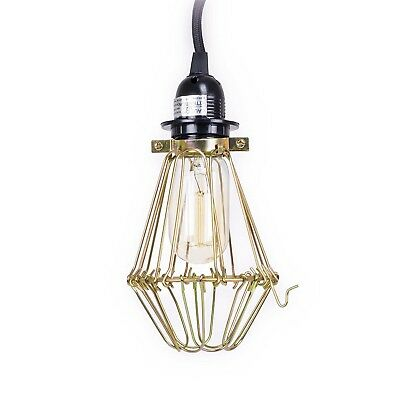 1-Light Portable Hanging Plug-In Pendant Oil Modern Swag Hooks Ceiling Lamp New