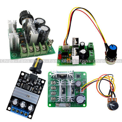 DC 6V-28V/6-90V/12V-36V/12V-40V 3/10/15A PWM Motor Adjuster Speed Control Switch