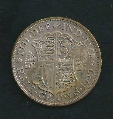 1929 UK Great Britain Half Crown Coin Stunning Condition and Detail