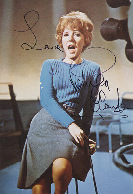 Petula Clark - British Singer and Songwriter - Hand Signed Colour Photograph.
