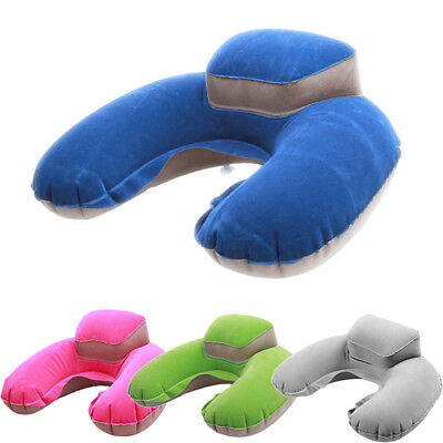 Inflatable Travel U-Shape Pillow Air Cushion Neck Rest Pocket size with Pouch