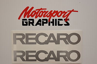 Recaro 200mm  x2 decal sticker Motorsport Rally Race All Colours FREE POST