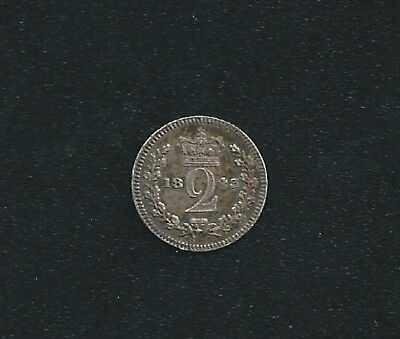 1843 UK Great Britain 2d Two Pence Coin Nice Detail