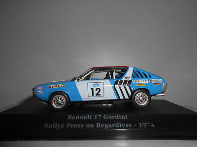 Renault 17 Gordini Rally Press On Regardless 1974 Saga Gordini Atlas Ixo 1:43