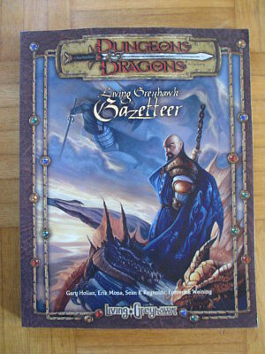 Dungeons & Dragons Living Greyhawk Gazetteer + Map English D&D Guide Source Book