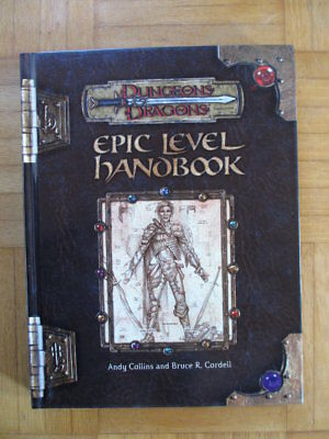 Dungeons & Dragons Epic Level Handbook – 881690000 English Hardcover D&D Guide S