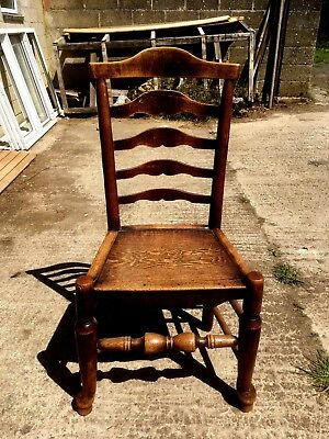 Antique Oak Country Ladderback Chair