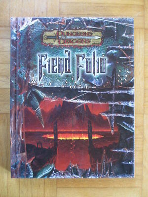 Dungeons & Dragons Fiend Folio – 886610000 English Hardcover D&D Guide Source Bo
