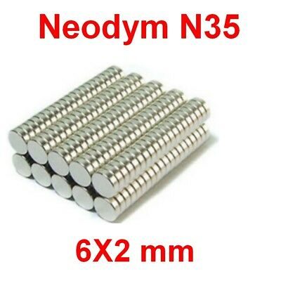 Aimants Néodyme 6X2mm ultra puissant N35 :Photo,Magnet,Fimo,Scrapbooking...