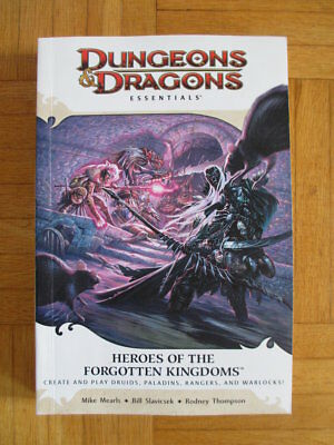Dungeons & Dragons Essentials Heroes of the Forgotten Kingdoms Fourth Edition 4t