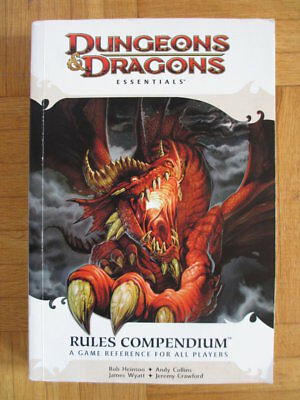 Dungeons & Dragons Essentials Rules Compendium Fourth Edition 4th D&D Guide Sour