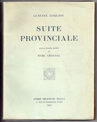 MARC CHAGALL & GUSTAVE COQUIOT SUITE PROVINCIAL 1927 EO Lim to 550 ex 92