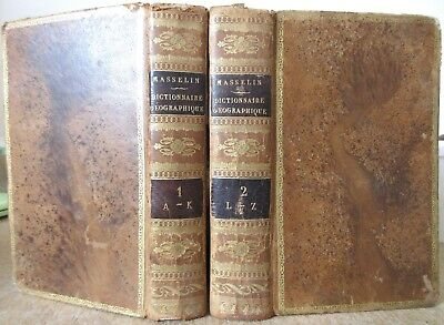 Man Dictionnaire Universel Geographies 2 Vol. Eo 1827 8 Cards Colours