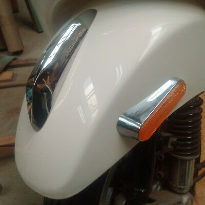 Vespa LX 150 3V IE White Front Fender Mud Guard