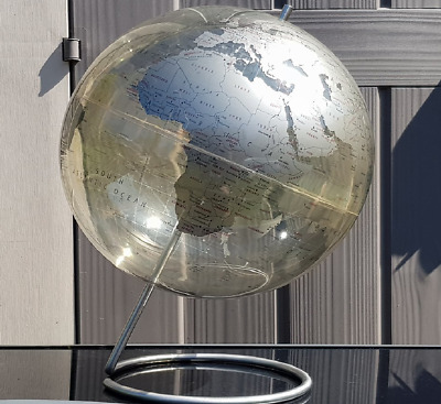 Vintage St ex Large Clear World Globe 18''