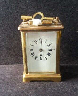 Vintage French Brass Carriage Clock with Key (not working) (B48)
