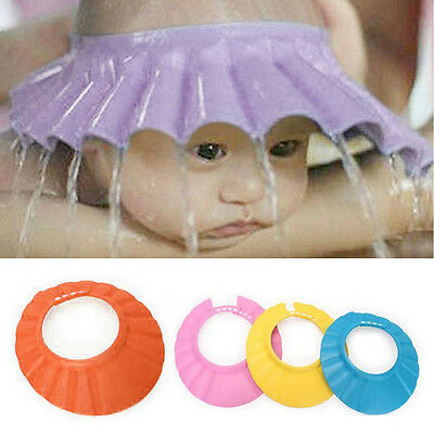 Fashion Baby Shower Cap Adjustable EVA Soft Baby Shampoo Care Bath Protection