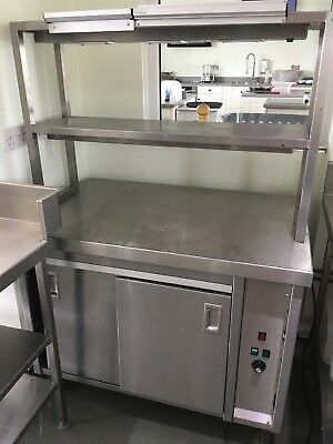 Commercial Hot Cupboard Servery With Heated Warming Lamp