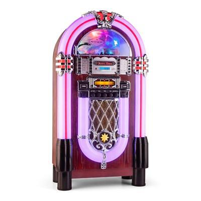 Vintage Retro Jukebox Machine Stereo Bluetooth Usb Aux Cd Radio Remote *freep&p*