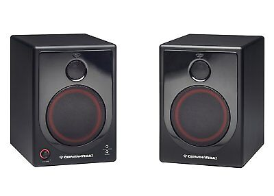 Cerwin-Vega XD5 5-Inch 2 Way Powered Desktop Speakers - PAIR - BLACK