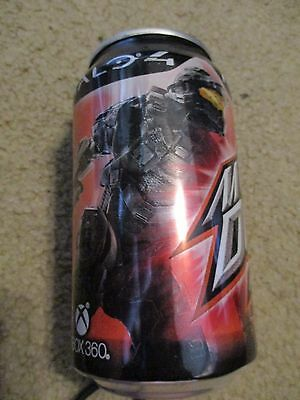 Halo 4 Mountain Dew Pepsi Can Xbox 360 Issued 2012 Empty Top Opened