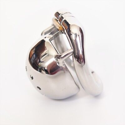 Male Short Chastity Cage Men's Small Stainless Steel Locking Belt Device CC150-1