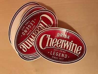 "HUGE Cheerwine Vinyal Sticker 2""X3"""