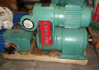 Reeves 5Hp Variable Speed Motodrive With Tri-Clover Positive-Displacement Pump