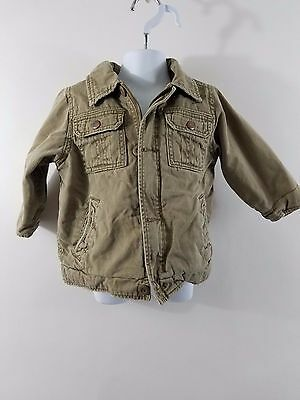 The Childrens Place 1165 Brown Sherpa Lined Infant Boys Long Sleeves Jacket 18M
