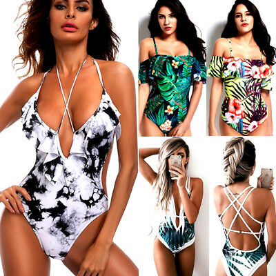 Womens One-piece Swimsuit Swimwear Push Up Monokini Bathing Suit Bikini HOT GW