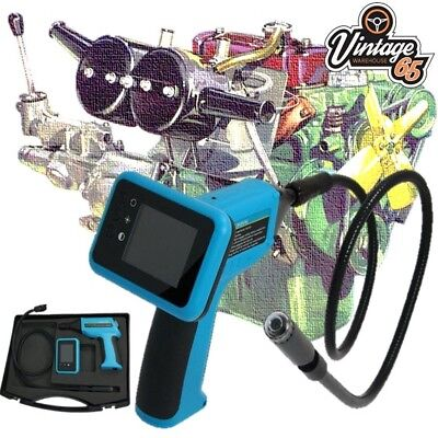 Classic Car Digital Inspection Camera Borescope Colour Display Jpeg Capture LED
