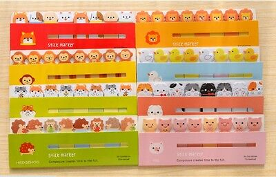 Cute Animals kawaii Sticky Notes book marker memo page tab sticker note UK