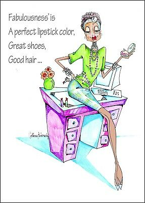 African American Woman Funny Birthday Card Vanity Cases By Collene Kennedy