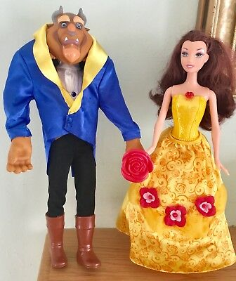 Stunning Beauty And The Beast Dolls + Original Accessories Lovely Quality Dolls