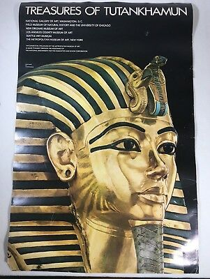"Treasures Of Tutankhamun Exhibition Poster 1976 38""x 24.75"" Met Museum Of Art"