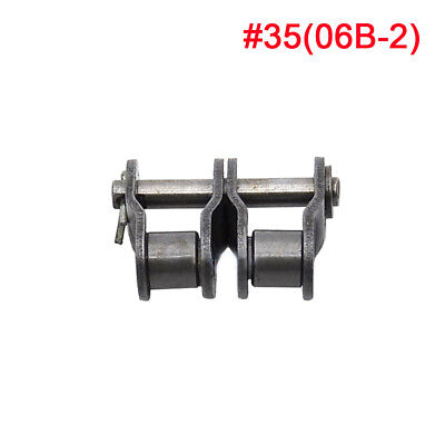 #35-2 Double Strand Roller Chain 06B-2 Chain Connecting Link Half Link x 2Pcs