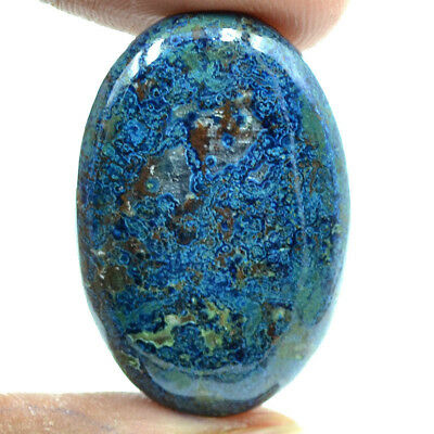 Cts. 48.95 Natural Azure Color Azurite Cabochon Oval Cab Loose Gemstone