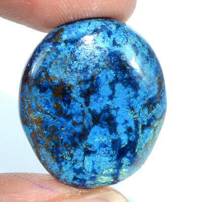 Cts. 23.15 Natural Azure Color Azurite Cabochon Oval Cab Loose Gemstone