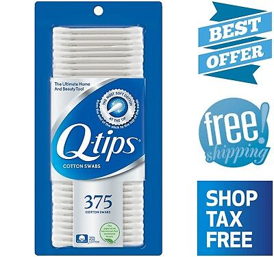 Q-TIPS COTTON SWABS Applicators Cleaning Tool Cosmetic Hygiene Sticks 375  Count