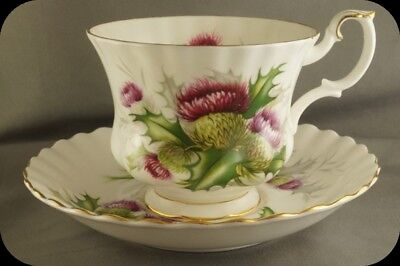 Royal Albert Highland Thistle Cup and Saucer England (up to 3 Available)