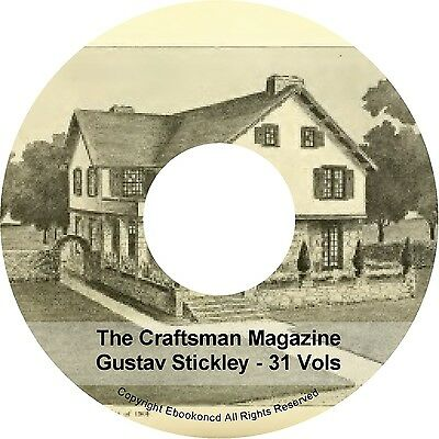 The Craftsman Magazine Gustav Stickley 31-VOLs Crafts Home Furniture Books DVD