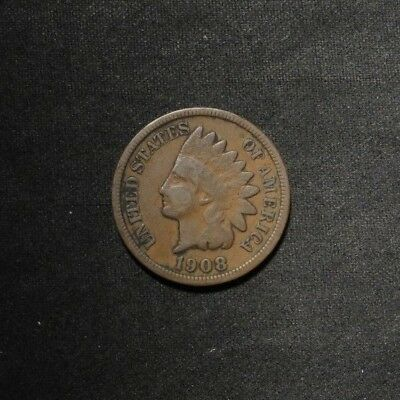 1908-S Indian Head Cent 1¢- Fine