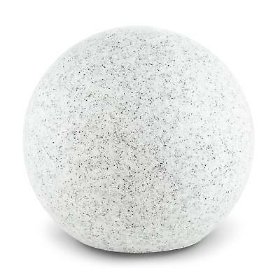 New 20 Cm Stone Effect Ambient Garden Globe Light Bbq Party * Free P&p Uk Offer