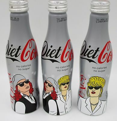 *Full 2016 Absolutely Fabulous The Movie Aluminum Coca Cola 3 Bottle Set Ab Fab
