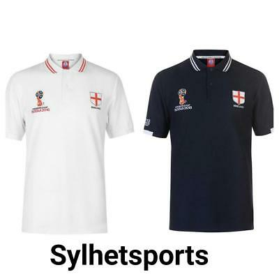 Genuine FIFA World Cup Russia 2018 England Men's Polo Shirts (Embroidered Logo)