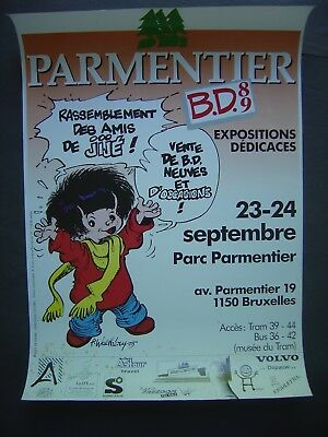 Affiche 60 x 40 - WALTHERY - Festival BD - 1989